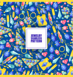jewelry seamless pattern vector image