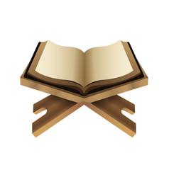 Koran book islam religion icon vector