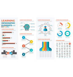 learning concept infographic vector image