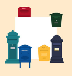 mail box with space for text vector image