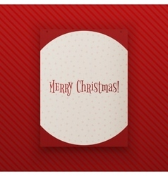 Merry chistmas hanging paper banner template vector