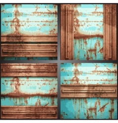 Metal background set vector
