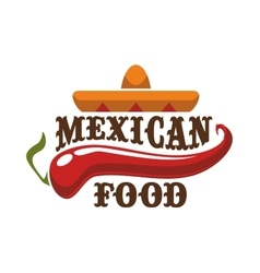 Mexican food icon or emblem vector image