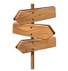 multichoice crossroad wooden vector image