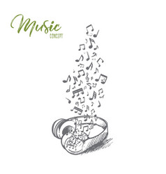music concept hand drawn isolated vector image