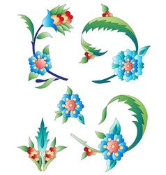 Ottoman art flowers eleven vector