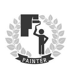 painter icon vector image