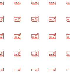 phone connection cable icon pattern seamless vector image