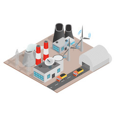 Power concept banner isometric style vector