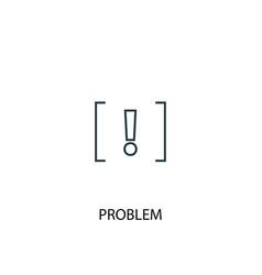 problem concept line icon simple element vector image