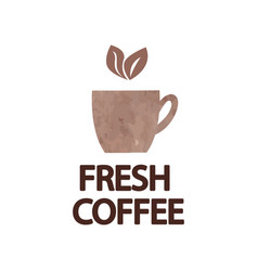 promotion card with lettering fresh coffee under vector image