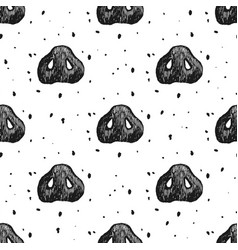 Seamless pattern with pig hoof vector