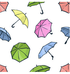 seamless pattern with umbrellas cute colorful vector image