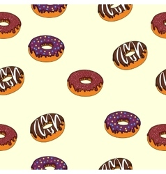 seamless texture delicious donuts vector image