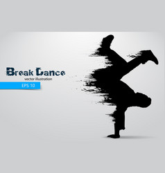 Silhouette of a break dancer vector