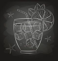 sketch cocktail and alcohol drinks vector image