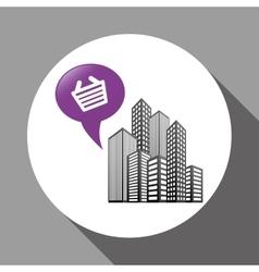 Smart city design technology icon multimedia vector image