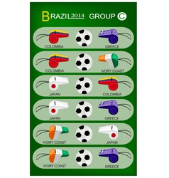 Soccer Tournament of Brazil 2014 Group C vector image