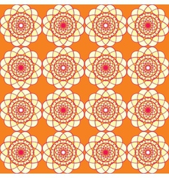 Spirographic orange seamless background vector