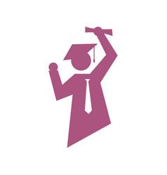 success student logo graduation sign logo symbol vector image