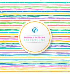 summer striped pattern colorful on white vector image