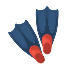 Swimming flippers vector image