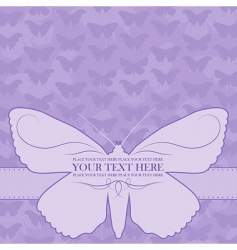 Vector butterfly card vector