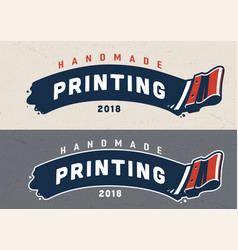 Vintage screen printing template vector