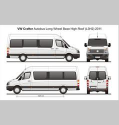 Volkswagen crafter passenger bus l3h2 2011 vector