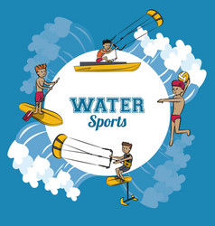 Water sports cartoon vector
