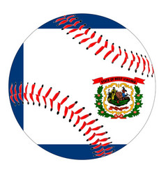 west virginia flag baseball vector image