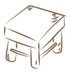 wood chair drawing on white background vector image