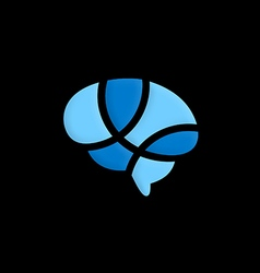 brain abstract science logo vector image vector image