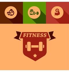flat fitness design elements vector image vector image