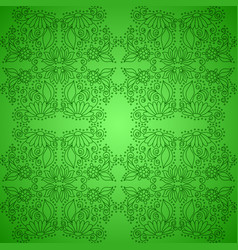 Seamless vintage green pattern vector
