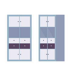 storage cabinet office in blue vector image