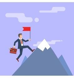Successful Businessman Business concept vector image