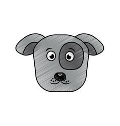 cartoon dog head pet animal icon vector image