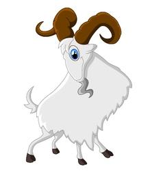 Cartoon happy animal goat vector image