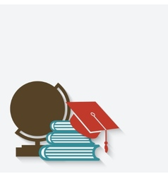 education graduation background vector image