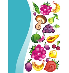 Fresh juicy fruits on white backgrou vector image vector image