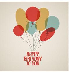 Happy birthday retro vector