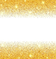Abstract Golden Sparkles on White Background Gold vector image vector image