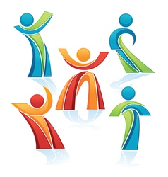 avtive people vector image vector image