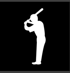 ballplayer it is the white color icon vector image vector image