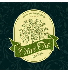 Olive tree sticker logo design concept vector