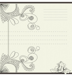vintage template for note paper vector image