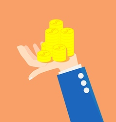 Concept idea of money on an investment vector image vector image