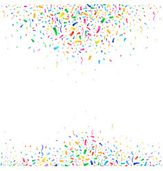 falling colorful tiny confetti pieces vector image