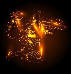 a basketball player vector image